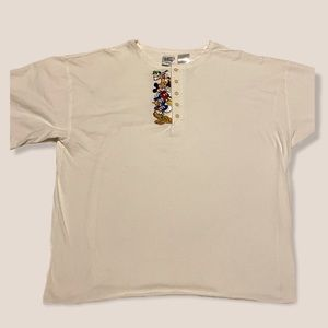 disney vintage embroidered character tee